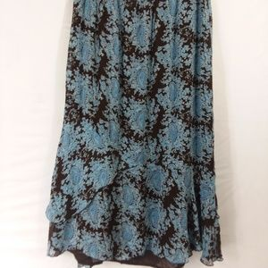 Style & Co size 14 ruffled, lined midi skirt